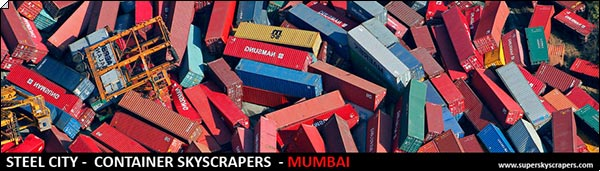Стальной Город: Контейнерные Небоскрёбы, Дхарави, Мумбаи