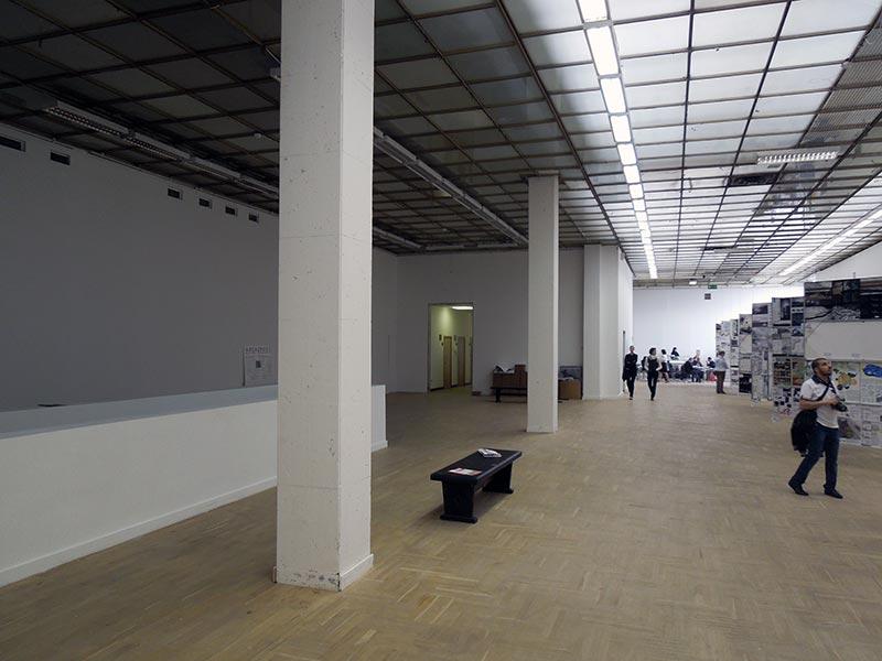 Так бы выглядели залы ЦДХ, если оставить в них только архитектурную составляющую