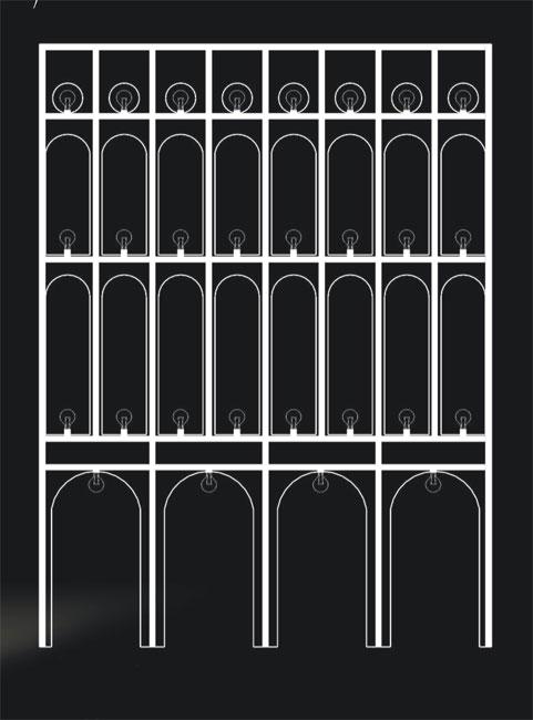 Этажерка Венеция — фасад