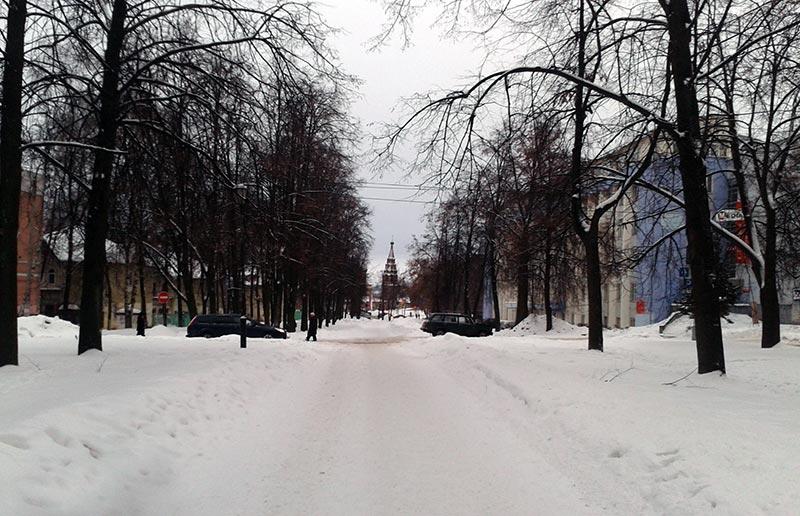 Boulevard on Tchaikovsky Street, Yaroslavl