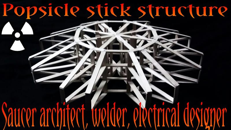 Popsicle stick structure
