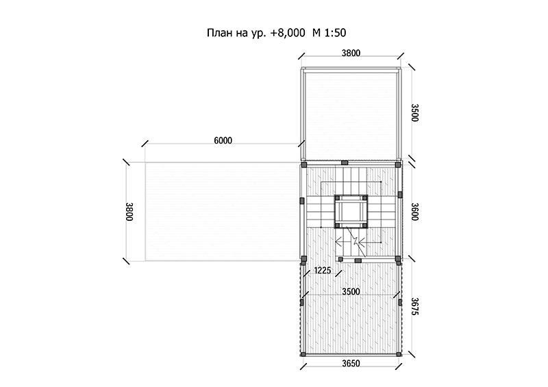 Голубятня / план 2 этажа