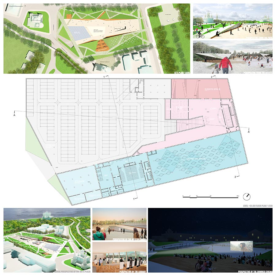 SPARTACUS ALIVE: a Plaza for the Arts & a Cultural Hub / AIA, International Agency for Architecture : Marco Suarez, Lucas Alperi