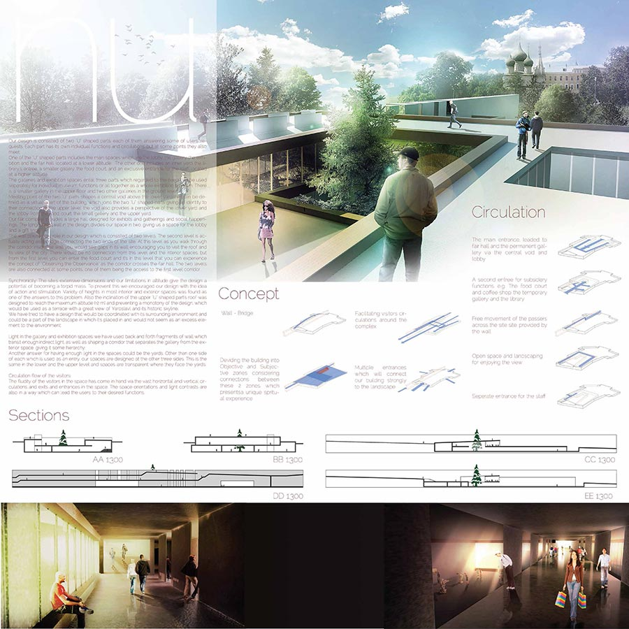 NU cultural and historical center of Yaroslavl / BIT Architecture Group : Shervin Azadi, Parmida Razavi, Alireza Taghipoor