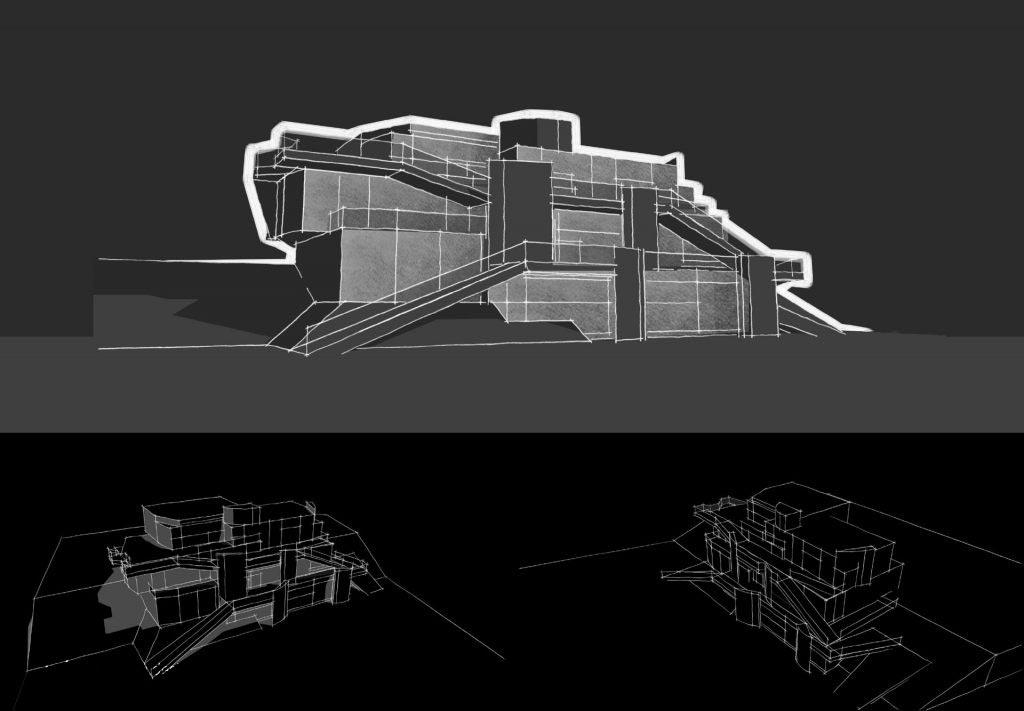 Parametric Residence, sketch #20