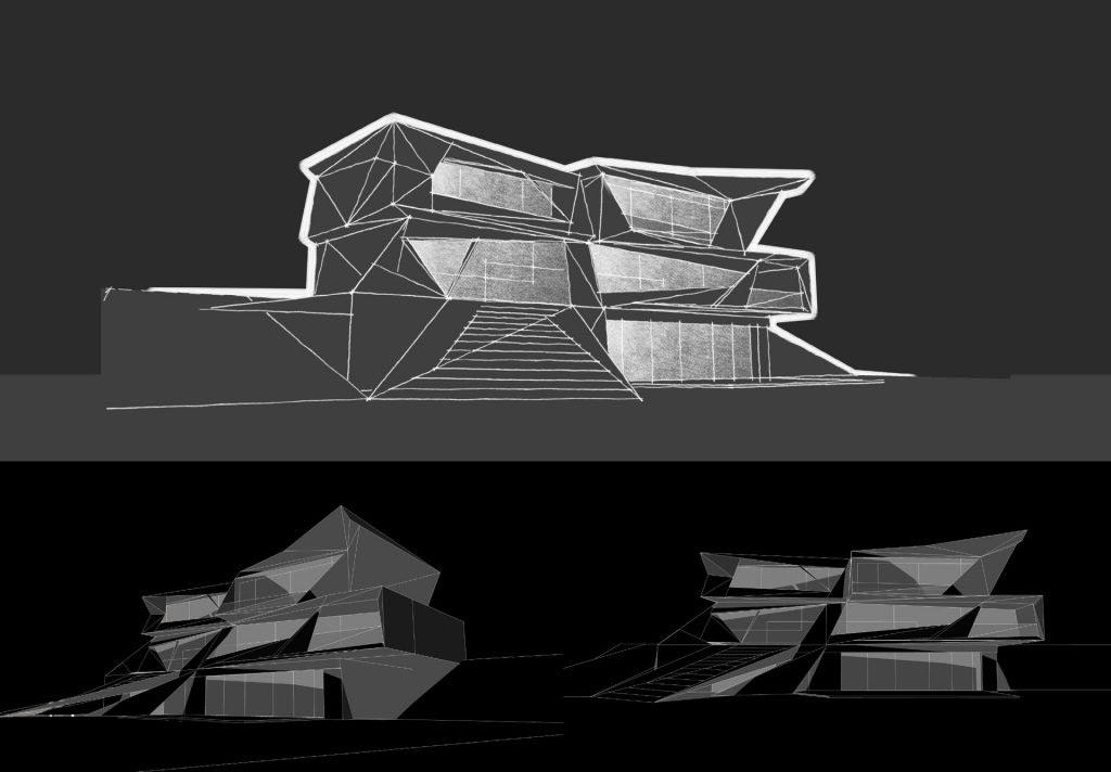Parametric Residence, sketch #23