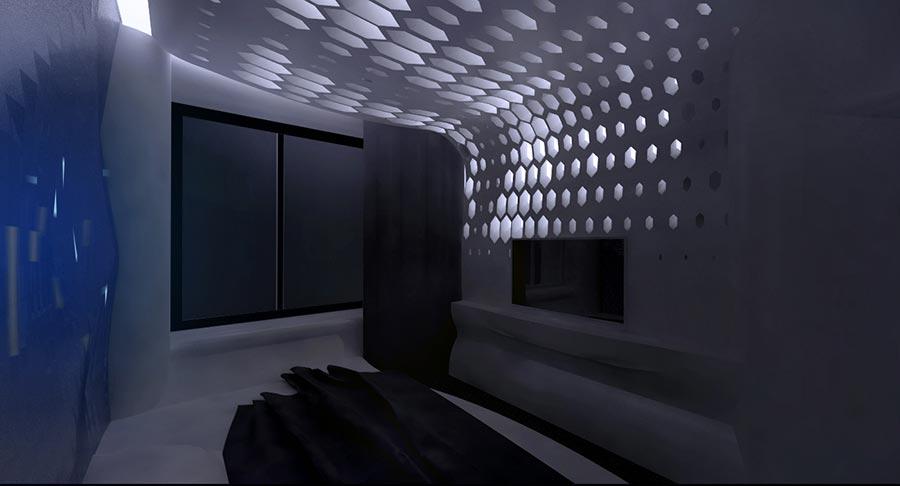гостевая спальня ночью