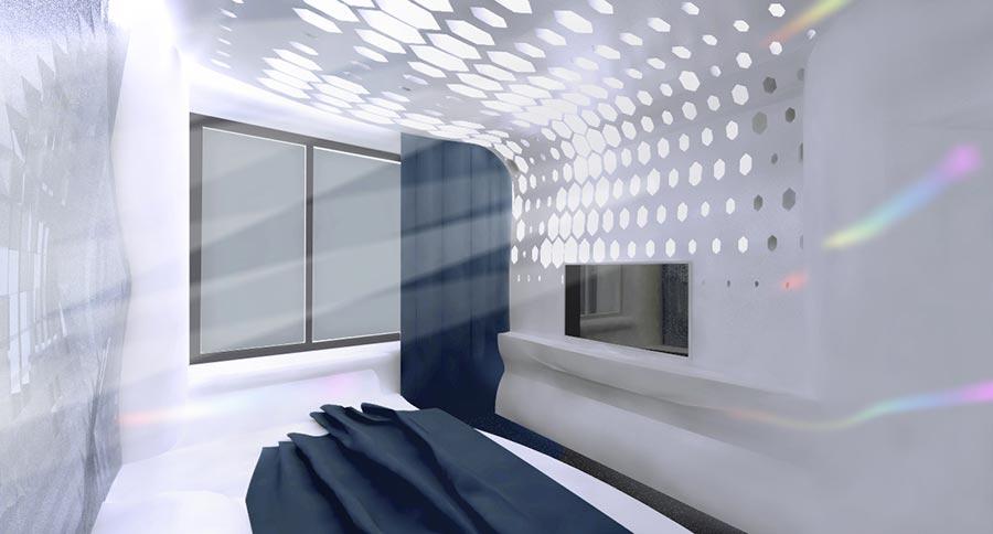 гостевая спальня днём
